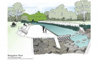 Bangalow Weir landscape design concept