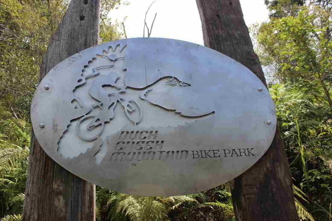 Duck Creek Mountain Bike Park Entry Signage